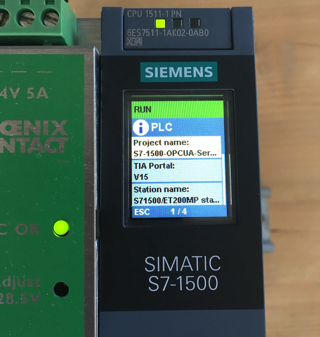 siemens simatic s7 1500 acting as opc ua server