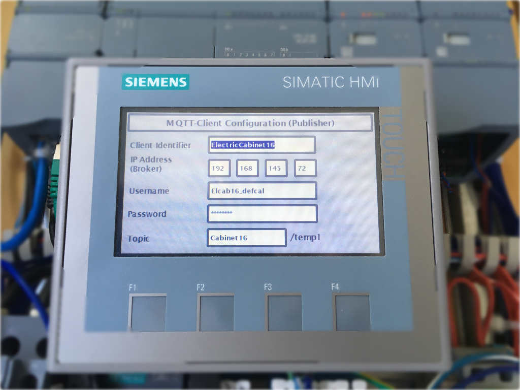 mqtt settings on simatic panel